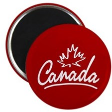 Canada Leaf Script Magnet