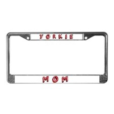 Yorkie Mom Text License Plate Frame