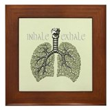 Anatomy of Breath in Green Framed Tile