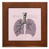 Anatomy of Breath in Violet Framed Tile