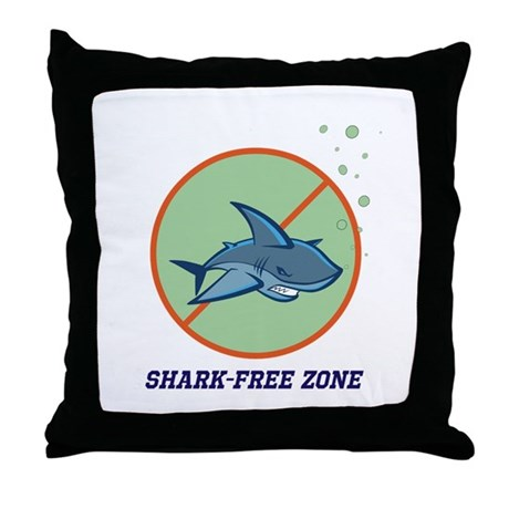 Shark-free Throw Pillow