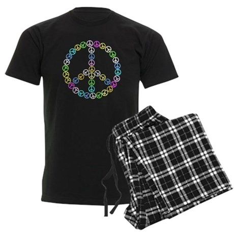 Peace Signs Men's Dark Pajamas