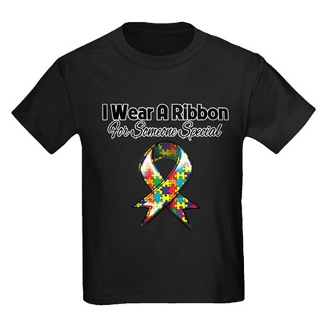 Autism Ribbon Someone Special Kids Dark T-Shirt