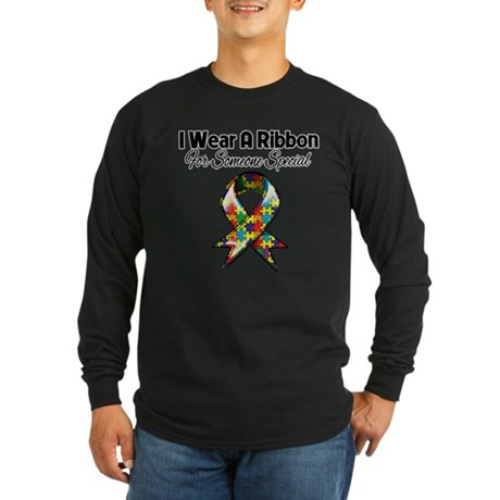 Autism Ribbon Someone Special Long Sleeve Dark T-S