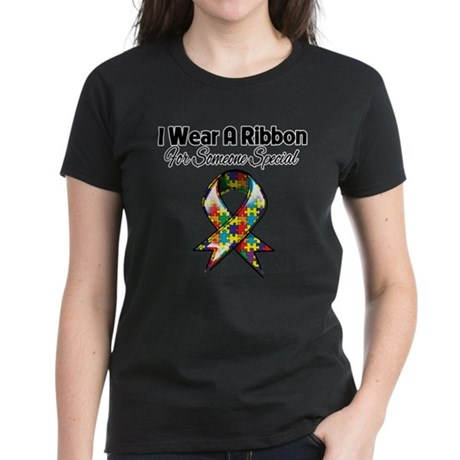Autism Ribbon Someone Special Women's Dark T-Shirt