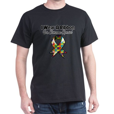Autism Ribbon Someone Special Dark T-Shirt