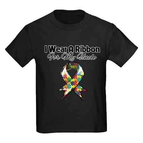 Autism Ribbon My Uncle Kids Dark T-Shirt