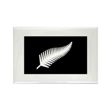 Cute Silver fern Rectangle Magnet