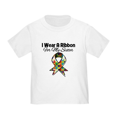 Autism Ribbon For My Sister Toddler T-Shirt