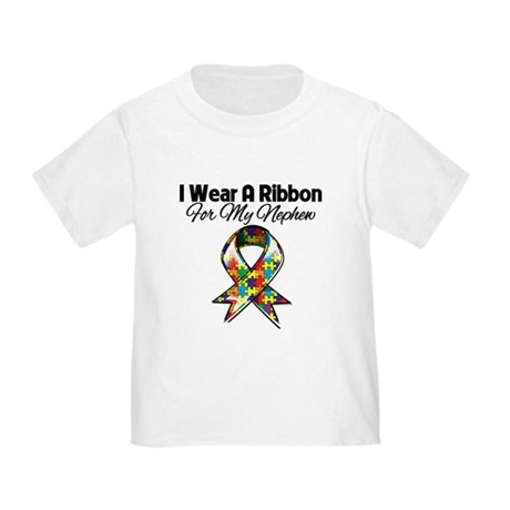 Autism Ribbon For My Nephew Toddler T-Shirt