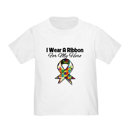 Autism Ribbon For My Hero Toddler T-Shirt