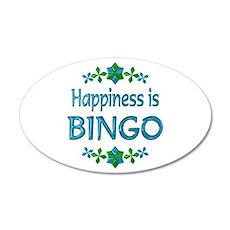 Happiness Bingo 38.5 x 24.5 Oval Wall Peel