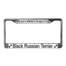 """Black Russian Terrier"" License Plate Frame"