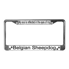 """Belgian Sheepdog"" License Plate Frame"