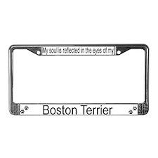 """""""Boston Terrier"""" License Plate Frame"""