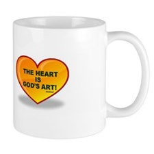 The Heart Is God's Art Mug