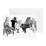 Cat Music Greeting Card