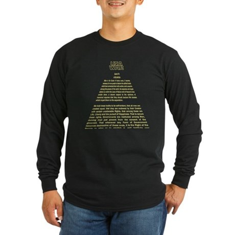 Declaration Scroll Long Sleeve Dark T-Shirt