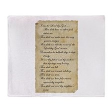 10 Commandments Throw Blanket