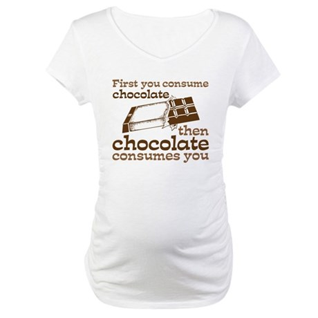Chocolate Maternity T-Shirt
