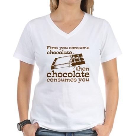 Chocolate Women's V-Neck T-Shirt