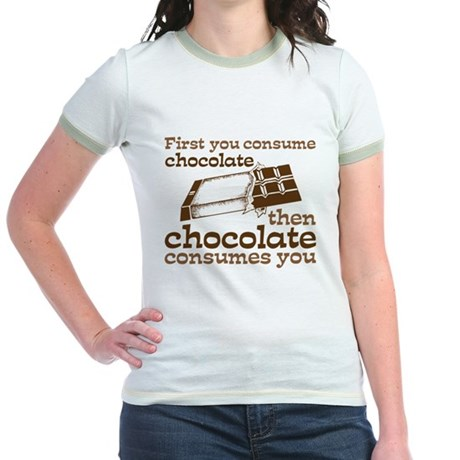 Chocolate Jr. Ringer T-Shirt