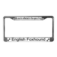 """English Foxhound"" License Plate Frame"