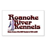 Roanoke River Sticker (Rectangle 10 pk)