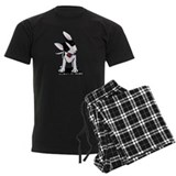 Black Masked Bull Terrier pajamas
