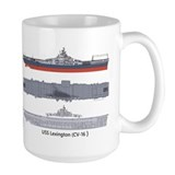 USS Lexington CV-16 Mug