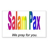 """Salam Pax"" Rectangle Decal"