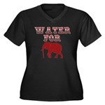 Water For Elephants Women's Plus Size V-Neck Dark