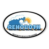 Rehoboth Bech DE - Waves Design Decal