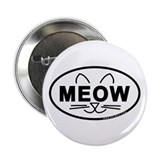 "Meow Oval 2.25"" Button (100 pack)"