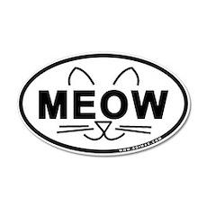 Meow Oval 22x14 Oval Wall Peel