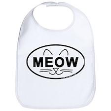 Meow Oval Bib