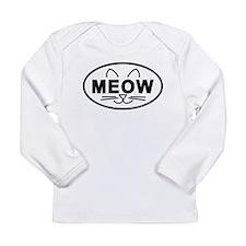 Meow Oval Long Sleeve Infant T-Shirt
