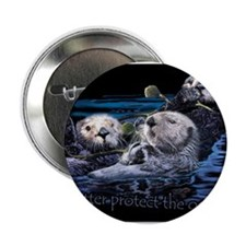 "Unique Sea otter 2.25"" Button (10 pack)"