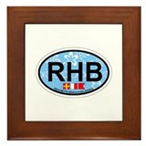 Rehoboth Beach DE - Oval Design Framed Tile
