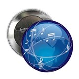 "Mixed Musical Notes (world) 2.25"" Button (100 pack"