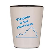 Virginia Is For Shovelers Shot Glass