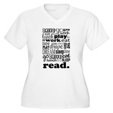 Read Life Quote Book T-Shirt
