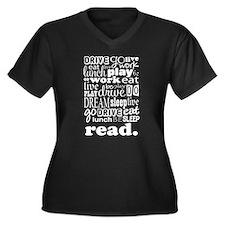 Read Life Quote Book Women's Plus Size V-Neck Dark