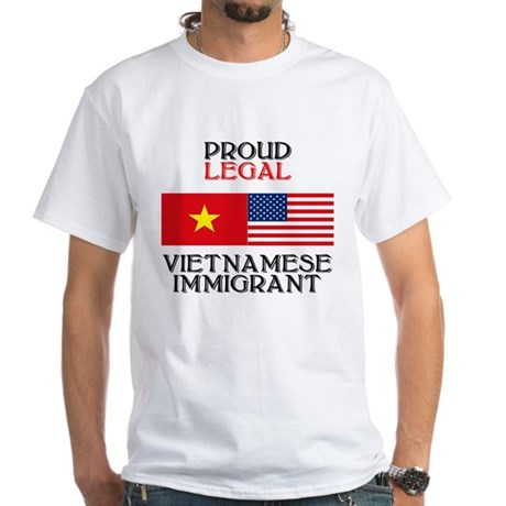 Vietnamese Immigrant White T-Shirt