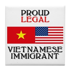 Vietnamese Immigrant Tile Coaster