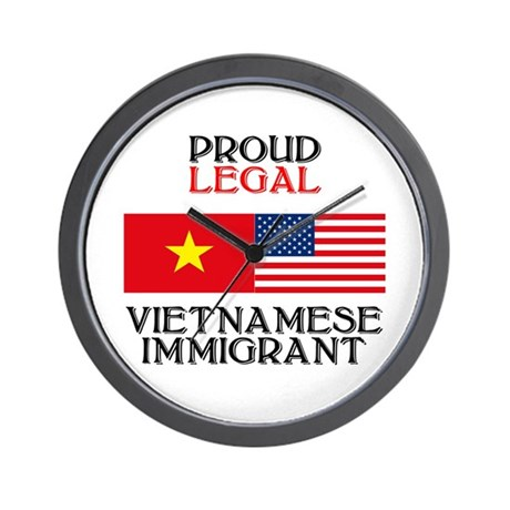 Vietnamese Immigrant Wall Clock