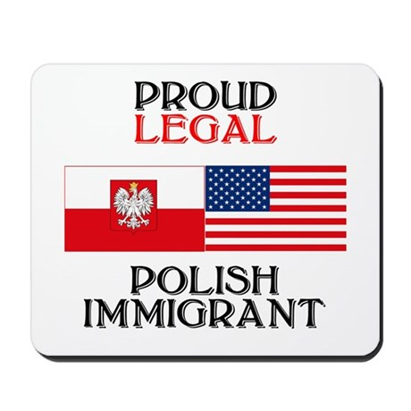 Polish Immigrant Mousepad