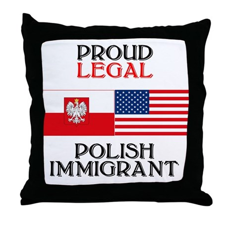 Polish Immigrant Throw Pillow