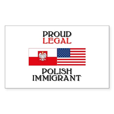 Polish Immigrant Rectangle Sticker