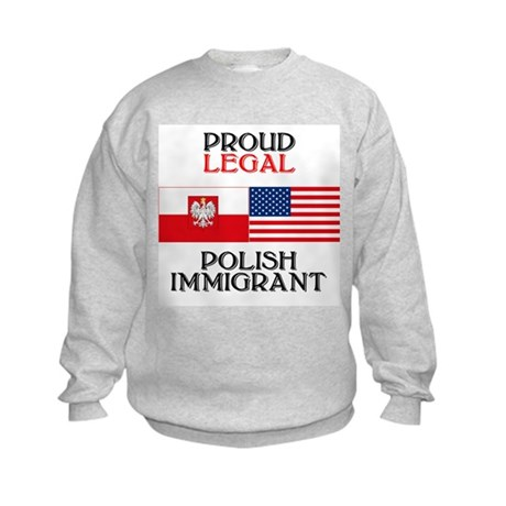 Polish Immigrant Kids Sweatshirt
